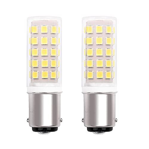 Ba15D Led 220V Lampadina, B15D Doppio Contatto A Baionetta Base, Bianco Freddo 6000K, 5W Equivalente Alogena Da 40W, Per Cucire Macchina Lampade Illuminazione. Non Dimmable (2 Pezzi)