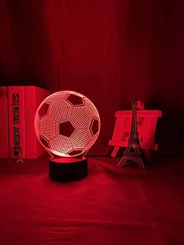 MENG Lámpara de Noche Del Sensor Del Tacto de la Pelota de Fútbol para Los Niños Decoración de la Mesa de la Lámpara de la Mesa de Fútbol de la Decoración Del Dormitorio