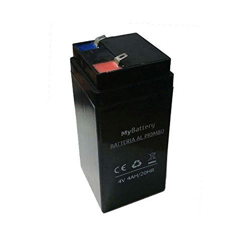 Givimusic Batteria di Ricambio al Piombo Ricaricabile per Bilancia 40KG 4V 4AH 20HR -2162