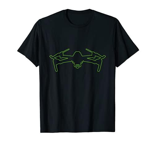 Drone con fotocamera, quadricottero verde Maglietta
