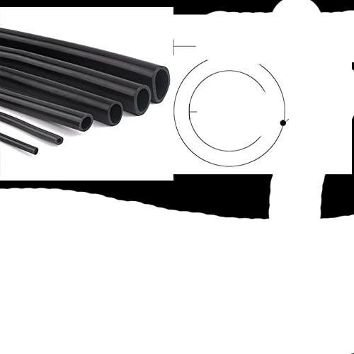 1 m / lote tubo de silicona negro ID 1 ~ 9 mm manguera de bomba de aire flexible acuario manguera de goma suave tubo de aireación resistente al calor de alta calidad-6x8,1m