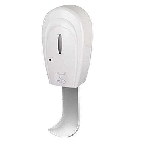 WOCAO Dispensador Jabon Automático con Sensor Montados en La Pared, Dispensador de Jabon Espuma con Interruptor Ajustable sin Contactopara Baño Cocina Hogar, Blanco, con Bandeja(1L) Gel
