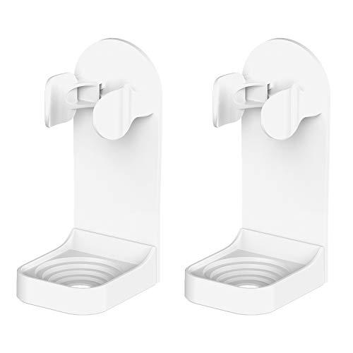 HOMMAND Elektro-Zahnbürstenhalter, 2er-Packung Verbesserte, Stark Klebende Sticker Elektro-Zahnbürstenständer Verstellbarer, an der Wand befestigter Zahnbürstenhalter für das Badezimmer (Universell)