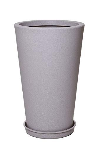 Vivanno Pflanzkübel Blumenkübel Kunststoff Beige Sandstein Rondo Classico (70x44)