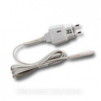 Braun – Conector transformador con cable blanco para depiladora Braun