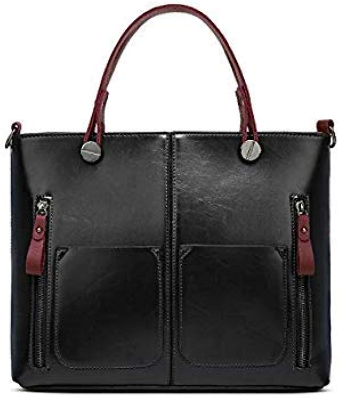 Bloomerang ELUNICO Luxury Handbags Women Bags Designer Tote Bag Ladies PU Leather Casual Handbag Female Messenger Shoulder Bags Sac A Main color Black About 32cm 11cm 26cm