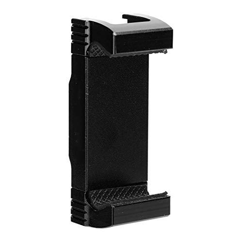 Soporte para teléfono,aleación de Aluminio de 50‑105 mm Clip Universal para teléfono móvil con Puerto para Zapata fría,Estiramiento bidireccional,Orificio para Tornillos estándar de 1/4 pulg(N