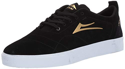Lakai Footwear Bristol Tennisschuhe, Schwarz/goldfarben, Schwarz (Schwarzes Wildleder), 38 EU