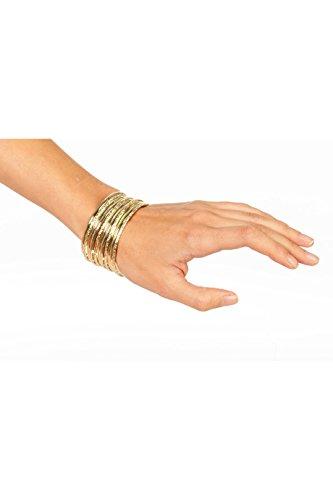 Jannes 33030 Zigeuner-Armband Goldene Ringe Bauchtänzerin Wahrsagerin Zigeunerin Einheitsgröße Gold
