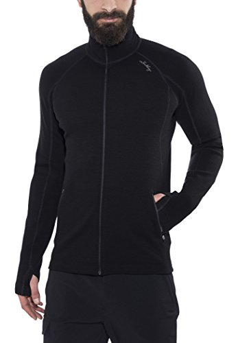 Lundhags Merino Full Zip Jacket Men Black Größe M 2018 Funktionsjacke