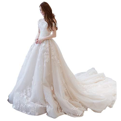 LILANPING Brautkleid - fallender Schulter-Spitze-Elegante Brautkleid Communion Cocktail Hochzeit (Size : L)