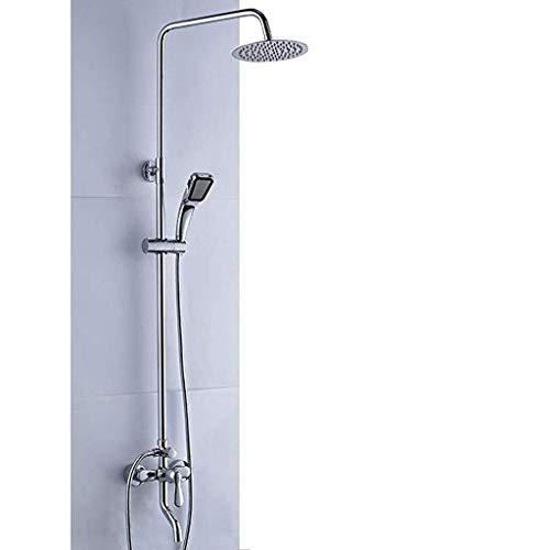 Duschsystem Duschkopf Regenduschset Duschsäule Höhenverstellbar Mit Regendusche Duschset Mit Regendusche Handbrause Für Bad Duschstangen Mit Handdüse Chrom
