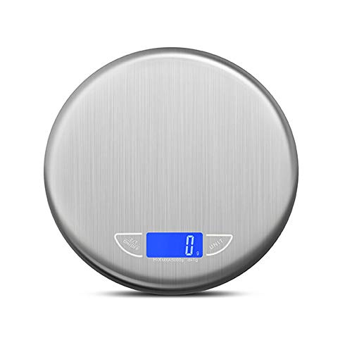Balances de cuisine - balances en acier inoxydable, conversion de 4 unités, écran de vision nocturne à LED, balance électronique compacte de précision multifonctions commerciale pour la maison et la c
