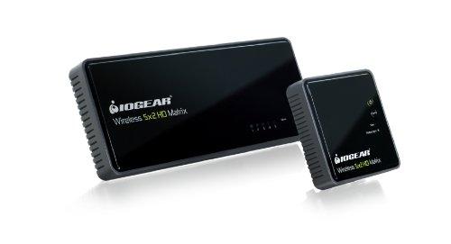 IOGEAR Wireless 5x2 HD Matrix Supports Full Uncompressed HD 1080p, 3D Content, 5.1 Channel Digital Audio, GWHDMS52