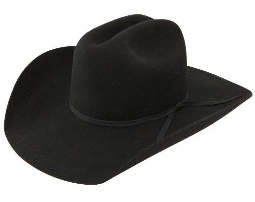 RESISTOL Boys Crossroads Jr Felt Cowboy Hat One Size Fits Size 7 & Smaller Black