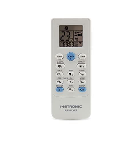 Metronic 495348 - Mando a Distancia Universal para Aire Acondicionado, Mando Universal Aire Acondicionado búsqueda automática o por Modelo, Timer, 5 Modos de Funcionamiento
