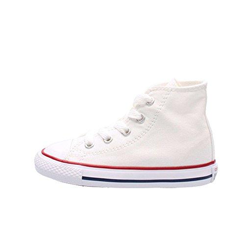 Converse Chuck Taylor CTAS - Scarpe sportive unisex per bambini, in materiale sintetico, alte, Bianco (Vintage White University Red Black Heart), 30 EU