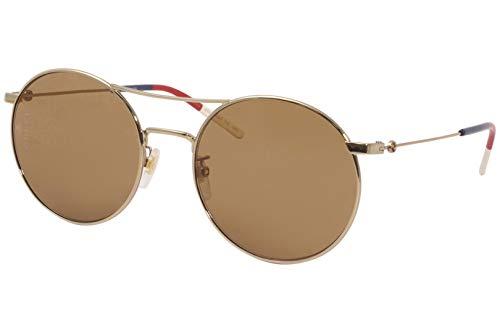 Gucci occhiale da sole GG0680S 003 Oro marrone taglia 56 mm Donna