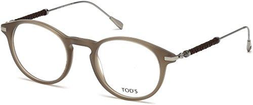 Tod's Unisex-Erwachsene TO5170 Sonnenbrille, Grau (Grigio), 49.0