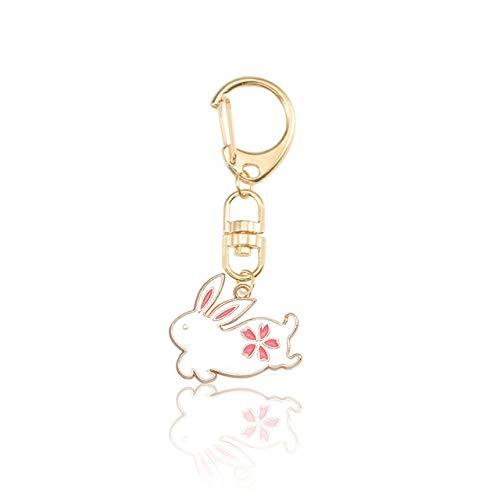 KLVRD Sleutelhangers Sleutelhangers, Mooie Leuke Dier Hond Sleutelhanger Cartoon Kat Walvis Tas Hanger Sleutelhanger Gouden Gesp Auto Sleutelhanger Vriend Gift