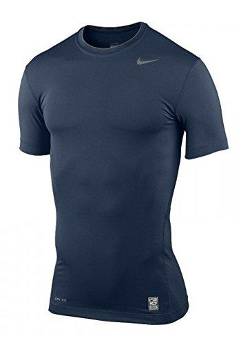 Nike Función Camiseta Entrenamiento Core Compression Short Sleeve Top, unisex, azul, extra-large