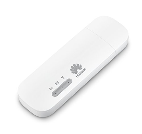 HUAWEI Desbloqueado E8372h-820 LTE/4G 150 Mbps USB Mobile Wi-Fi Dongle (Blanco) - Para usar con cualquier tarjeta SIM en todo el mundo. Nuevo modelo 2020. Ahora conecta 16 dispositivos inalámbricos