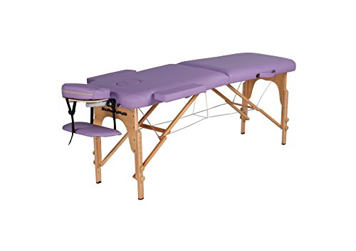Heaven Massage Ultra lightweight Portable Massage Table - Fits in almost every trunk! Perfect for on the go.. HMTS (PURPLE)