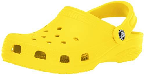 Crocs Unisex Classic Clog | Water Comfortable Slip on Shoes, Lemon, 10 US Women