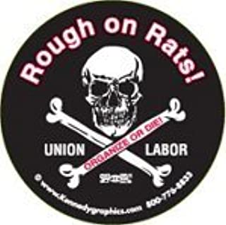 10 Rough on Rats Skull & Crossbone Hardhat Stickers K-27 S-72