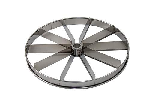 890011 Metall Tortenteiler, 10 Teile, 33cm Durchmesser