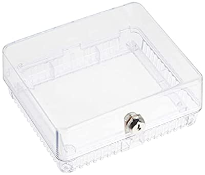 Medium Inner Shelf to Prevent Tampering Thermostat Guard, White