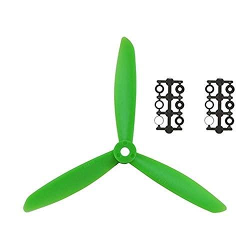 MZWNQ Accessori per Parti di droni 4 Paia RC FPV Drone 6045 Elica a 3 Pale in Nylon Paddle 6 Pollici CW CCW Prop X240 X250 Mini 3-Assi Quadcopter Accessori ( Color : Green )