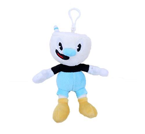 Hanyyj Juguetes De Peluche Juego Cuphead & Mugman Mecup and Brocup Evil Boss Legendary Chalice Doll Soft Stuffed Doll Regalos para Niños 15Cm