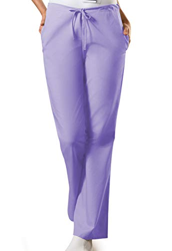 Cherokee Women's Flare Leg Drawstring Scrub Pant, Orchid, Large
