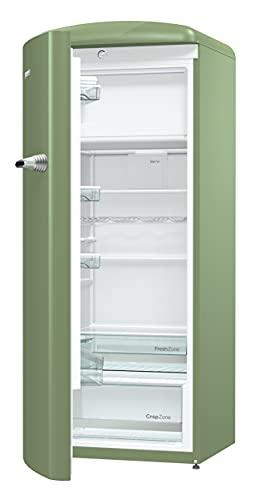 Gorenje ORB153OL-L Freestanding 254L A+++ Green combi-fridge - Combi-Fridges (Freestanding, Green, Left, Plastic, Glass, 254 L)