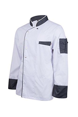 Kochjacke, Bäckerjacke, Modern Style, Langarm, (S, Weiß)