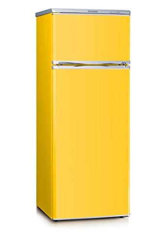SEVERIN Doppeltür-Kühl-/Gefrierschrank, 166 L/46 L, Energieeffizienzklasse A++, KS 9797, gelb
