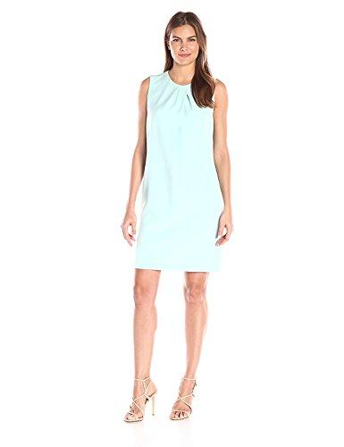 Anne Klein Vestido de cuello redondo para mujer -  Azul -  42