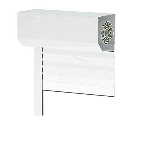 Vorbaurollladen SK45, weiß, Aluminium BxH: 80x130 cm, Gurt - 39er Lamelle - Sondermaße möglich