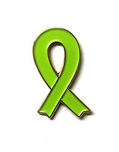 Anstecknadel mit grünem Band, für geistige Gesundheit, Mitochondriale Erkrankungen, Gehirnlähmung, Nierenerkrankungen