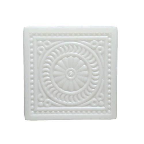 Holibanna Molde de Pedrería de Plástico para Cemento Molde Cuadrado para Pavimento Molde para Patio Jardín Césped Pavimento 32X32x6cm