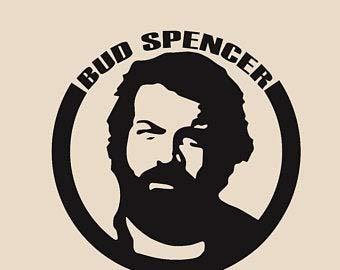 myrockshirt Bud Spencer Logo Gesicht Portrait 20cm Aufkleber,Sticker,Decal,Autoaufkleber,UV&Waschanlagenfest,Profi-Qualität