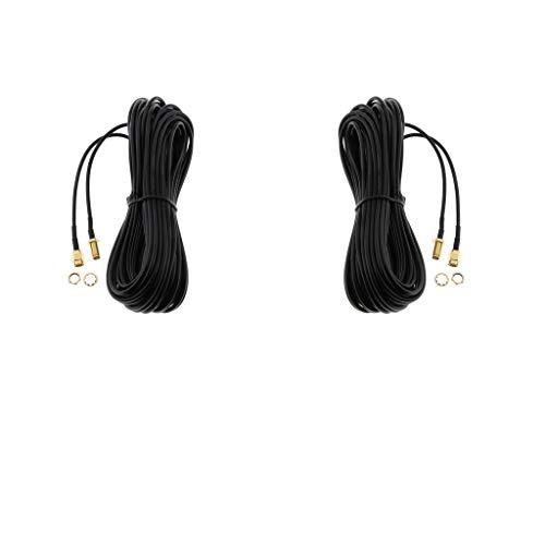 balikha Cable de Extensión RP-SMA con Conector de Antena de 2 Piezas para Enrutador Inalámbrico WiFi 10M