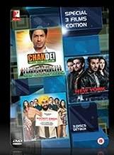 CHAK DE INDIA/NEW YORK/ROCKET SINGH 3 Disc Set