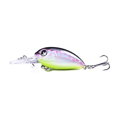 KKAAMYND 1pcs Crankbaits Fishing Lure Wobblers 5.5cm 4.8g Floating Japan Artificial Hard Bait Bass Pike Swimbait Carp Fishing tackle (Color : 4)