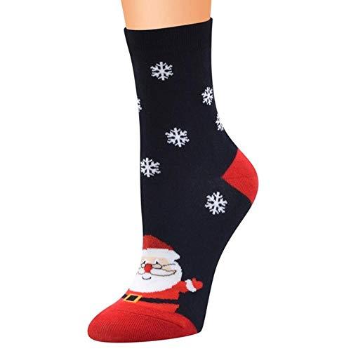 YDY Calcetines de algodón para Mujer de Navidad con Estampado de Calcetines...