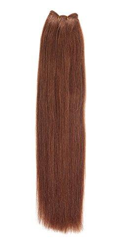 Euro soyeux tissage | Extensions de cheveux humains | 45,7 cm | Rouge Tête (30) American Pride