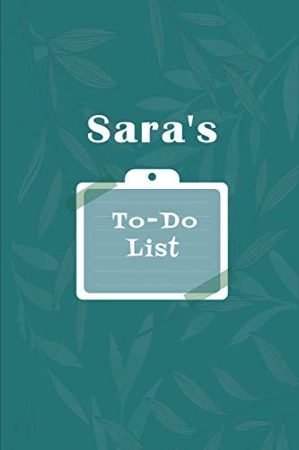 Sara's To˗Do list: Checklist Notebook | Daily Planner Undated Time Management Notebook