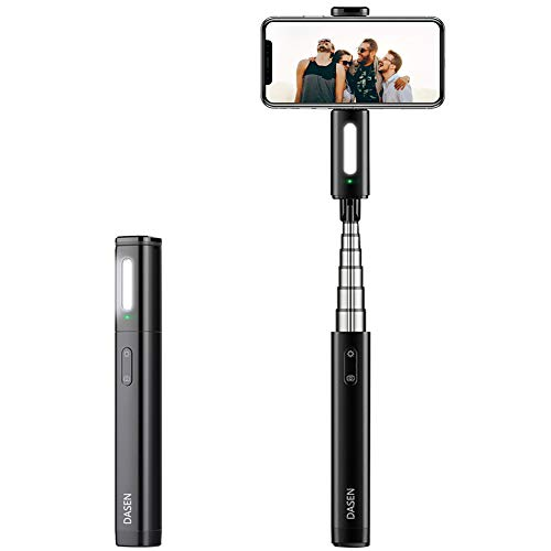 Selfie Stick Bluetooth Compact Cell Phone Selfie Stick Android, Mini Selfie Stick with Light Wireless for iPhone 12 11 Pro Max 6 7 8 Plus Galaxy S8 Plus Note 9 10 and More