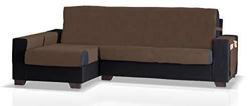 JM textiel beschermer voor hoekbank met GEA ottomane links, grootte groot (275 cm.), kleur tabak.